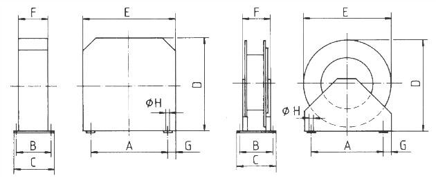 schlauchaufroller baureihe t 4000 mit federr ckzug f r druckluft 10 m schlauchl nge 6 mm. Black Bedroom Furniture Sets. Home Design Ideas